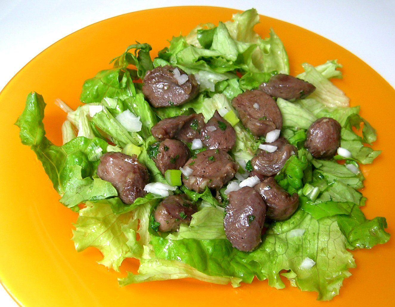 Salade de gesiers for Eliminer les vers des salades
